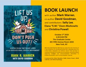 d273d758bddc URBAN s Mark Warren with Contributors · Book launch 10 3  Lift Us Up